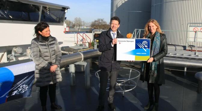Groene schepen betalen minder havengeld in Nijmegen