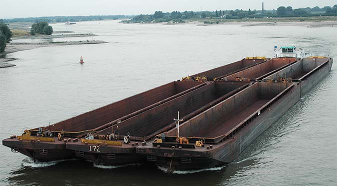 Tankvaart en droge lading groeien tot 2020, duwvaart daalt
