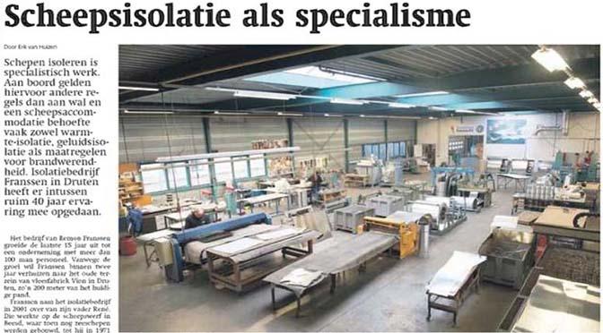 Aqualink lid Franssen in Weekblad Schuttevaer