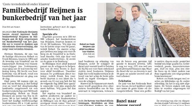 Aqualink-lid Heijmen in Weekblad Schuttevaer