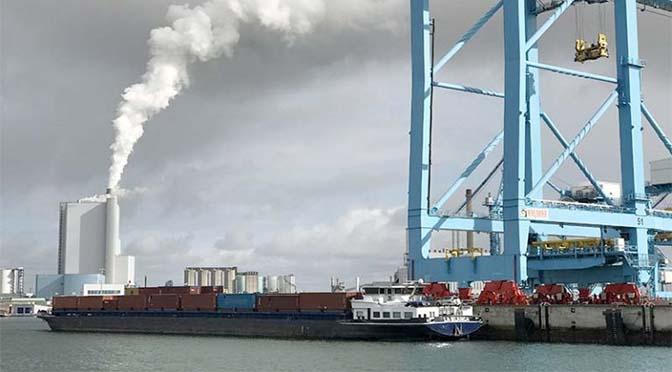 Subsidie voor schone binnenvaart in Rotterdam