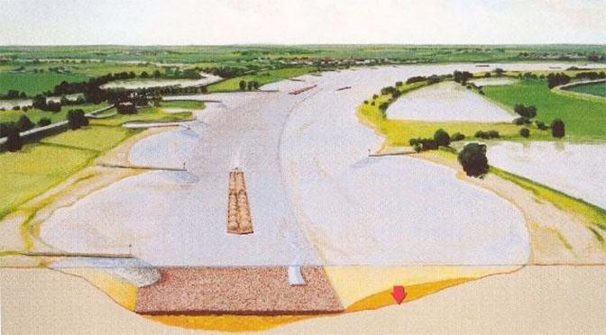 RWS begint aan vaste laag Waal bij Nijmegen