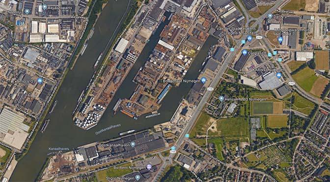 Nijmegen wil walstroom op kades industriehaven