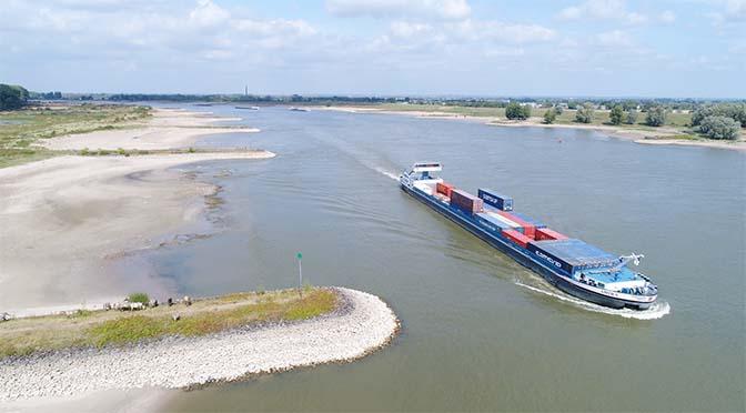 Waterstand grote rivieren weer normaal