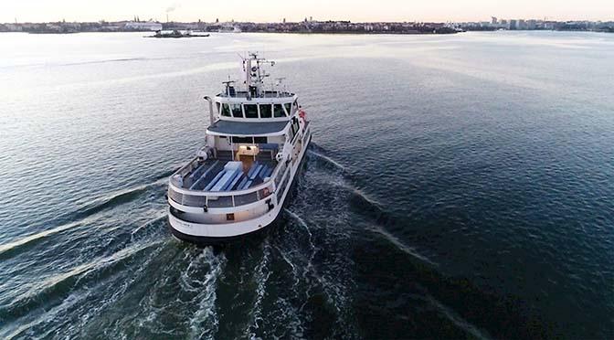 Finse ferry op afstand bestuurd
