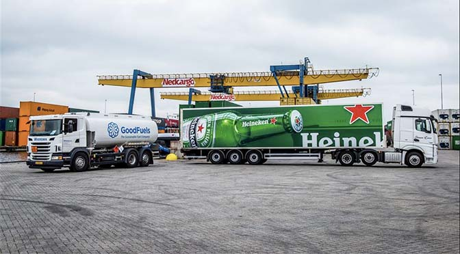 For Ever bunkert biobrandstof voor Heineken