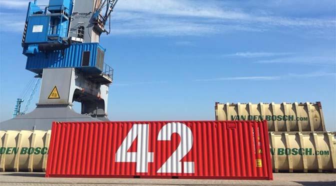 Hyperintelligente container op wereldreis