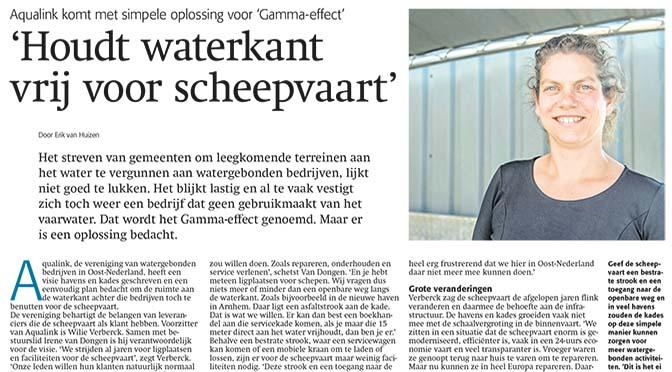 Aqualink in Schuttevaer: 'Houdt waterkant vrij voor scheepvaart'