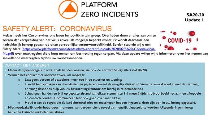 PZI komt met update corona Safety Alert