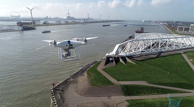 RWS zet drones in bij incidenten op de Waal