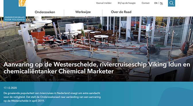 OVV: 'Veiligheid riviercruisevaart niet voldoende'