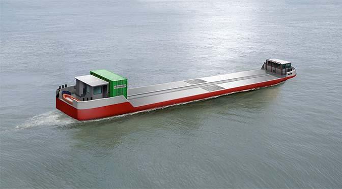 Het eerste vrachtschip op waterstof ter wereld