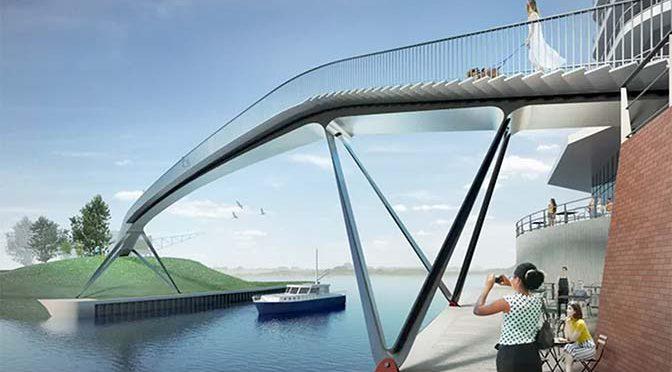Brug over havenmond Nijmeegse Waalhaven