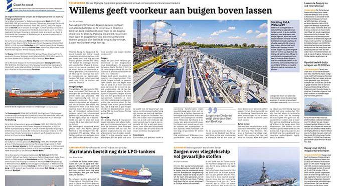 Aqualink-lid Willems in Weekblad Schuttevaer