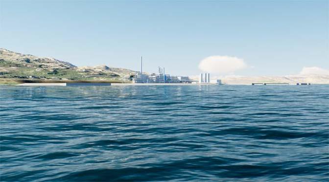 Blauwe ammoniak van Noorwegen naar R'dam